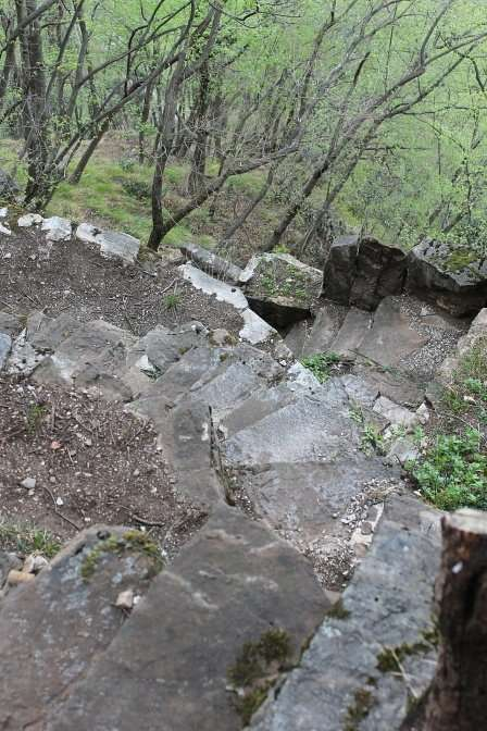 Scalinate, il giardino del Merlo