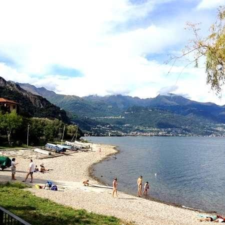 Spiaggia libera di Pianello sul Lago di Como