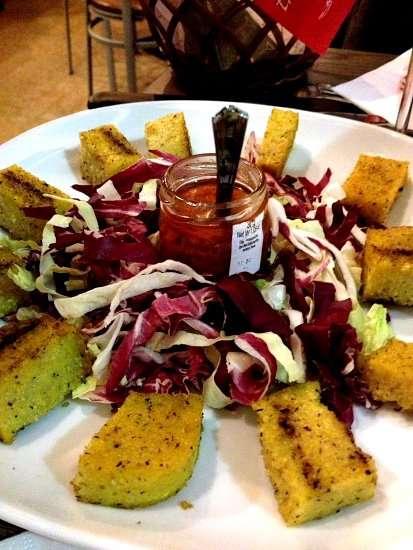 polenta con salsa di missoltino