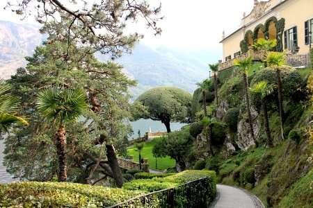 giardino a lago di villa balbianello