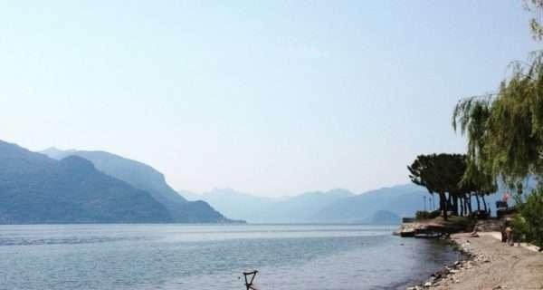lago di como spiagge libere