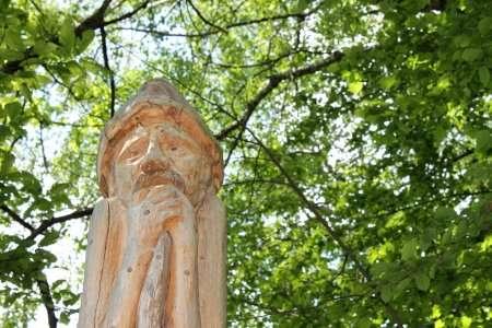 scultura del sentiero delle espressioni