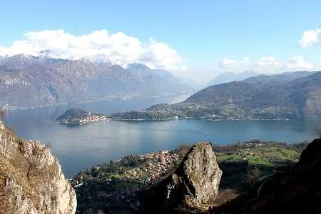 pilone trekking sul lago di como