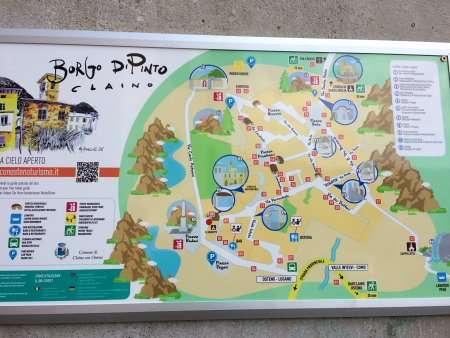 mappa di uno dei borghi dipinti in Lombardia, Claino