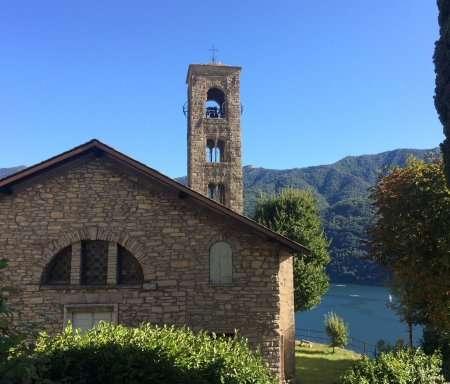 chiesa santa marta lungo la via verde del lago di como