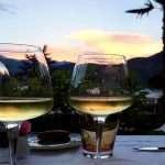 cena romantica vista lago