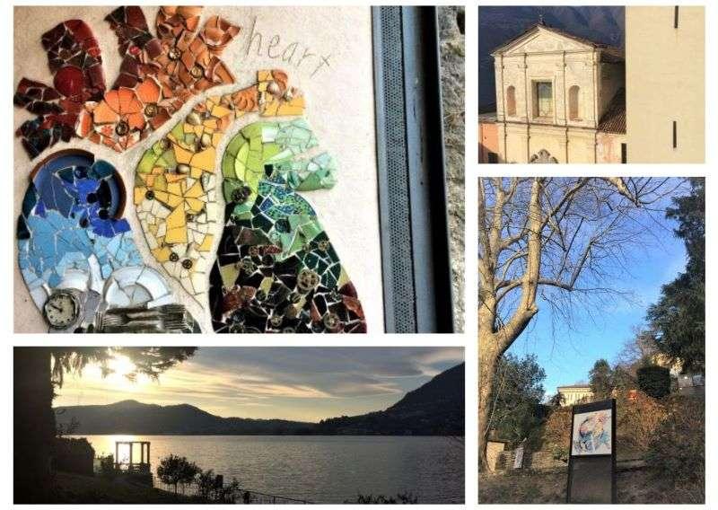 collage foto Blevio e mosaici