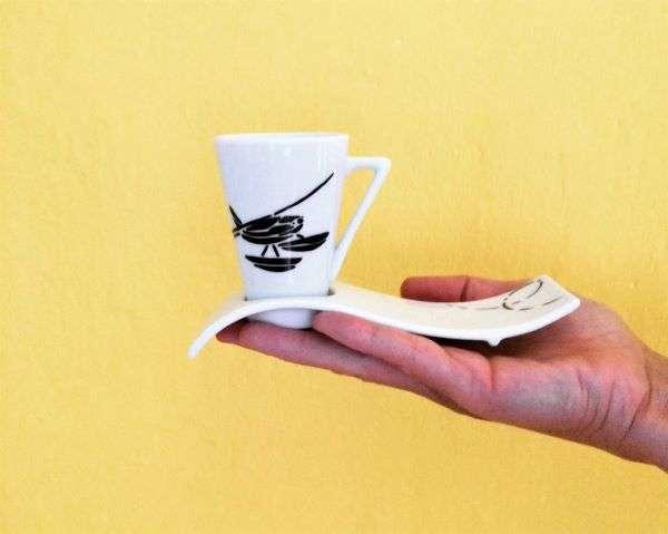 tazza da caffè di design in ceramica