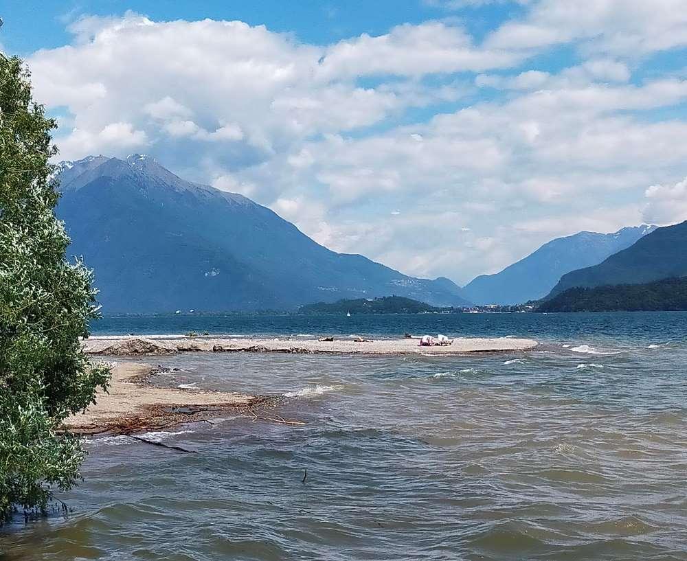 spiagge lago di Como Gravedona