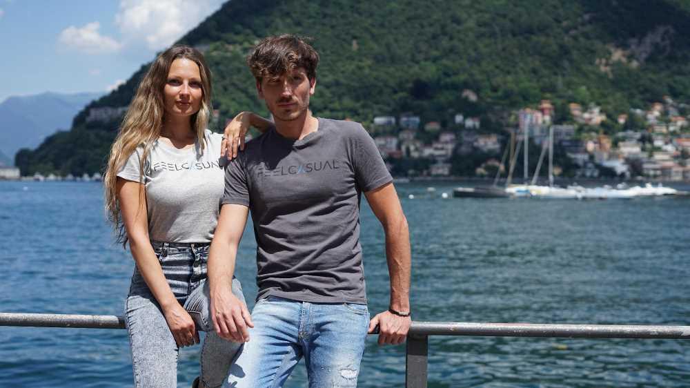 t-shirt ecosostenibili in cotone organico, Lago di Como