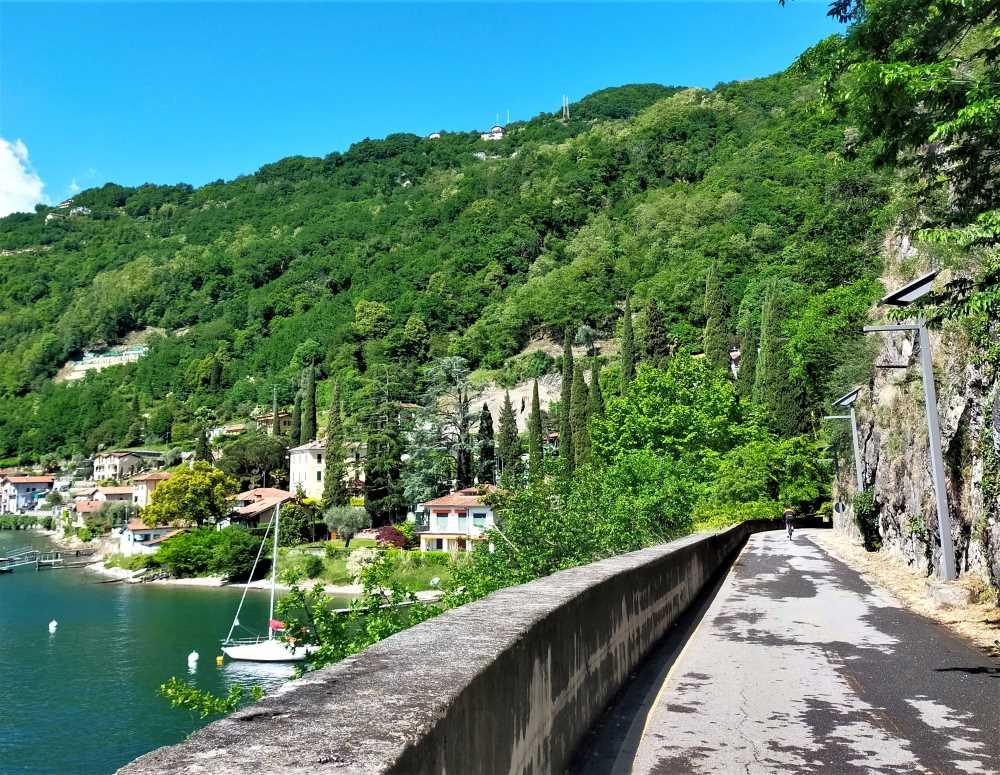 passeggiate con passeggino sul Lago di Como